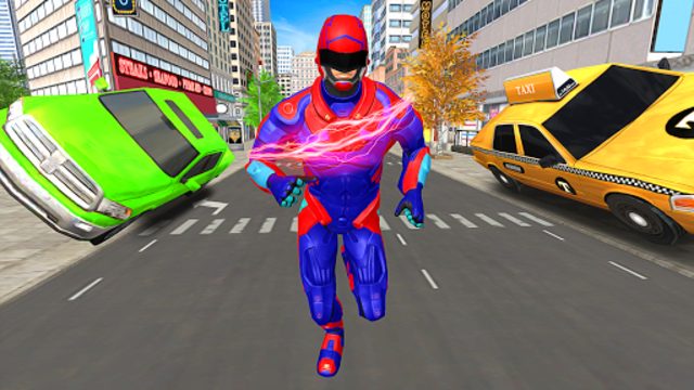 Light Police Speed Hero Robot Rescue Mission screenshot 16