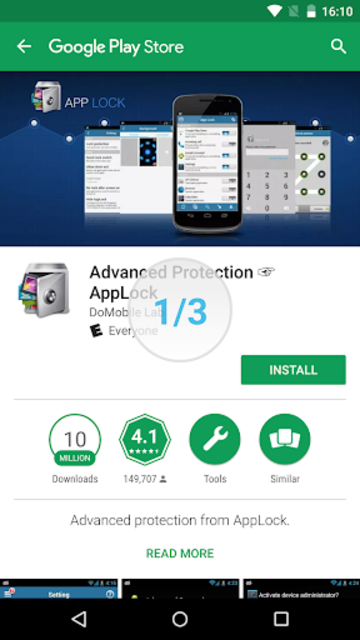 how to uninstall applock advanced protection