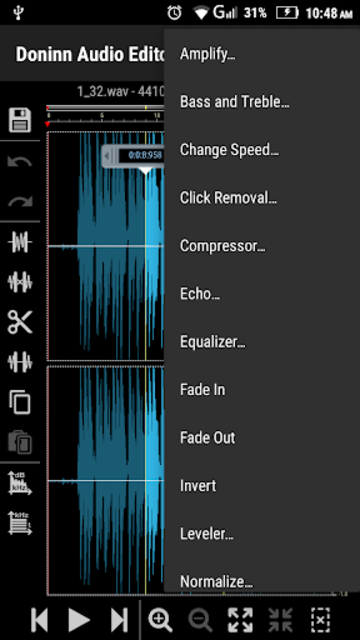 Doninn Audio Editor screenshot 7