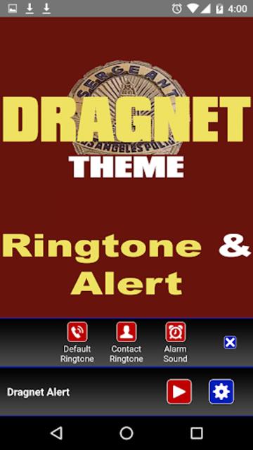 Dragnet Ringtone and Alert screenshot 3