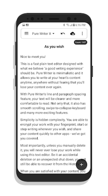 Pure Writer - Never Lose Content Editor screenshot 5