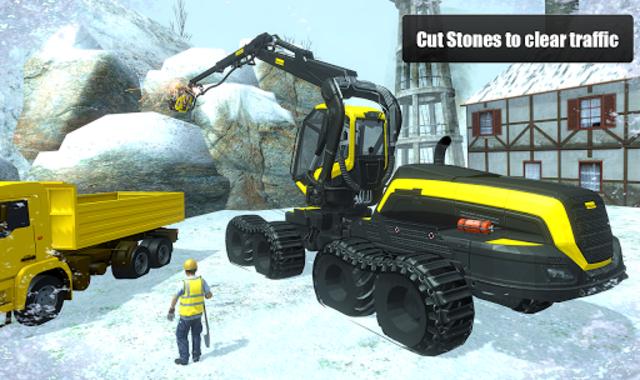 Snow Cutter Excavator Simulator 2020 screenshot 6