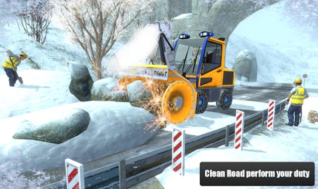 Snow Cutter Excavator Simulator 2020 screenshot 8