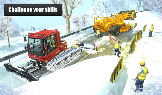 Snow Cutter Excavator Simulator 2020 screenshot 9