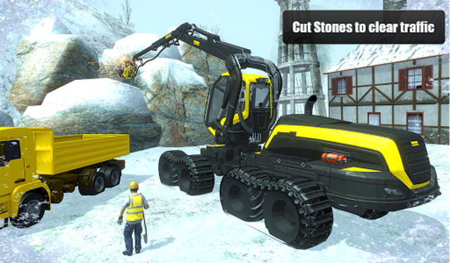 Snow Cutter Excavator Simulator 2020 screenshot 10