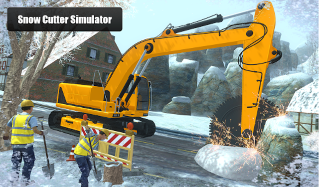 Snow Cutter Excavator Simulator 2020 screenshot 11