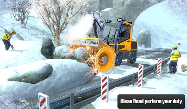 Snow Cutter Excavator Simulator 2020 screenshot 12