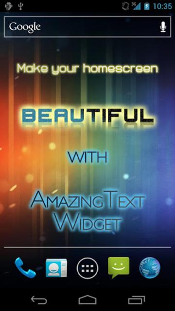 AmazingText Plus - Text Widget screenshot 1