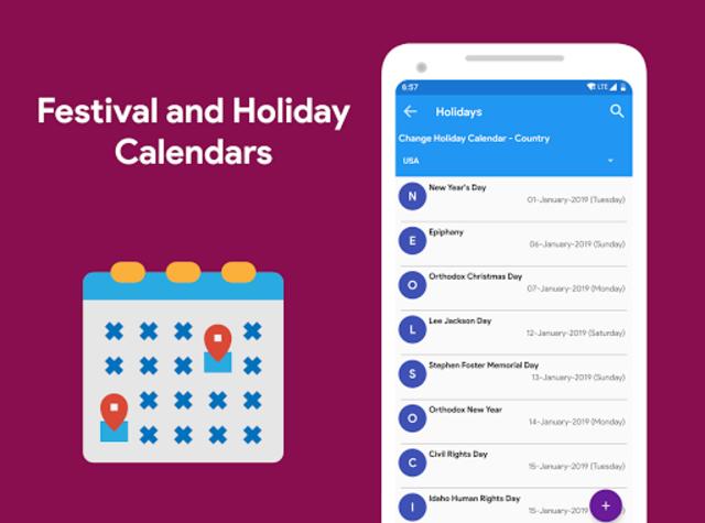 Calendar 2021 - Diary, Holidays and Reminders screenshot 11