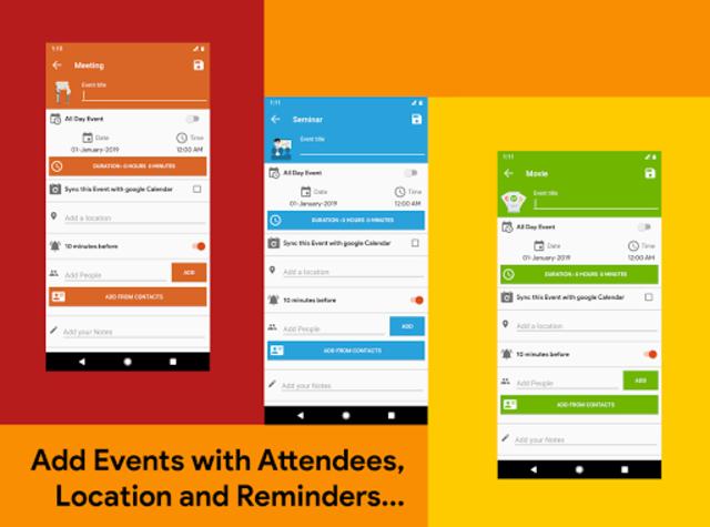 Calendar 2021 - Diary, Holidays and Reminders screenshot 13