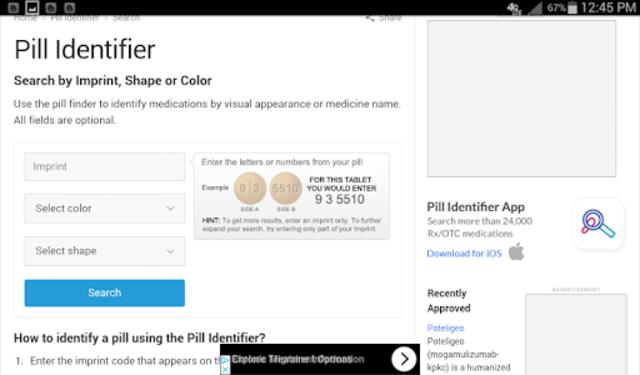 Prescription Pill Identifier screenshot 1