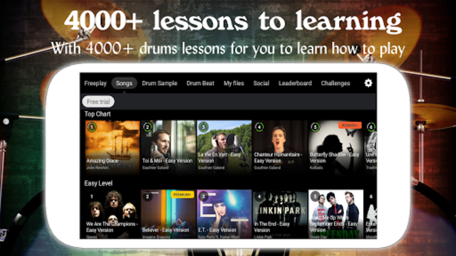 Drum Live: Real drum set drum kit music drum beat screenshot 2
