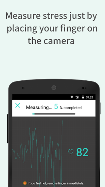 StressScan: heart rate monitoring and stress test screenshot 1