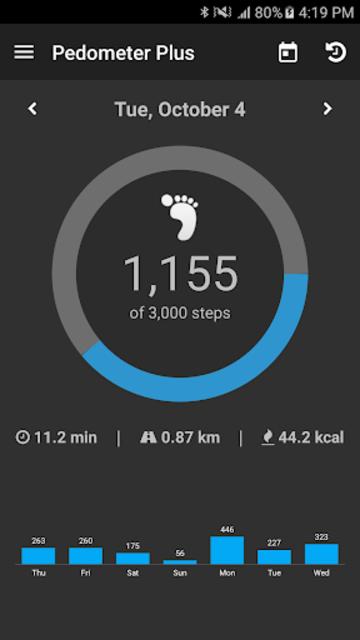 Pedometer Plus - Step Counter & Walking Tracker screenshot 1