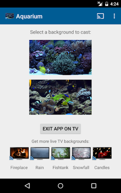 Aquariums on TV via Chromecast screenshot 7