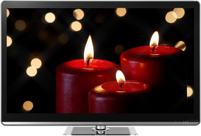 Romantic Candles Chromecast screenshot 1