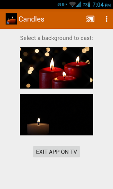 Romantic Candles Chromecast screenshot 3