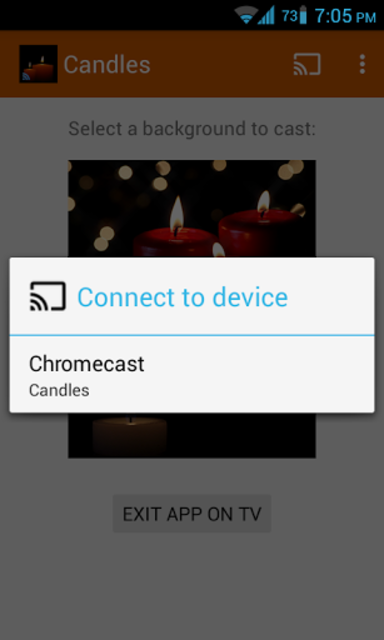 Romantic Candles Chromecast screenshot 4