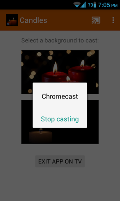 Romantic Candles Chromecast screenshot 5