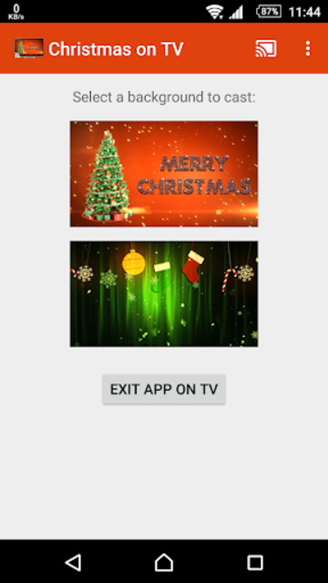 Christmas on TV via Chromecast screenshot 3