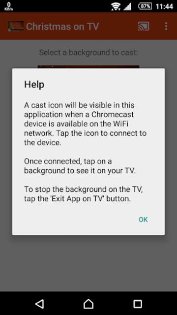Christmas on TV via Chromecast screenshot 5