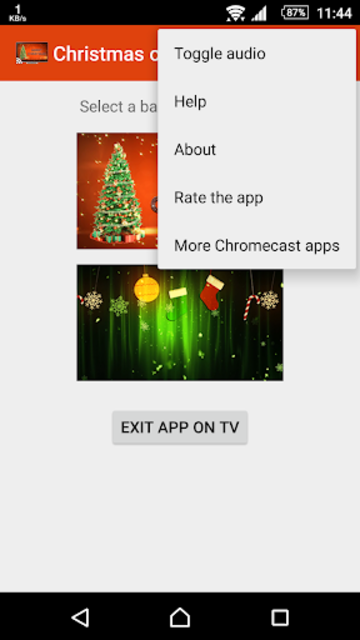 Christmas on TV via Chromecast screenshot 6