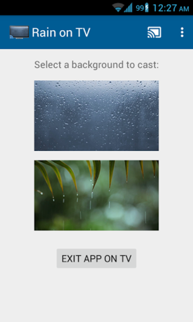 Rainy Window on TV/Chromecast screenshot 3