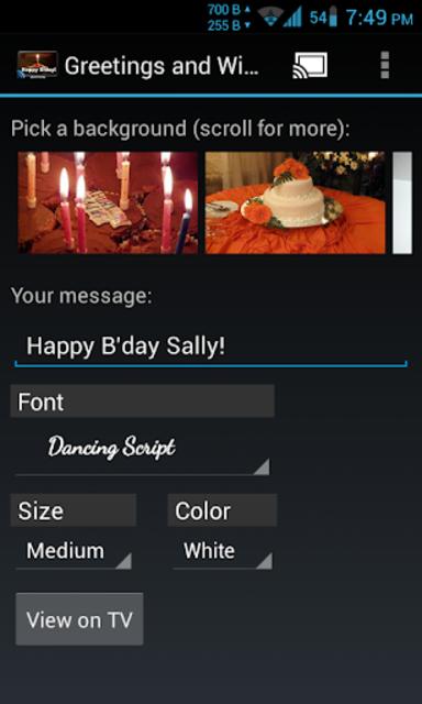 Greetings & Wishes Chromecast screenshot 2