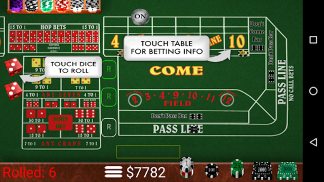 Craps Trainer Pro screenshot 1