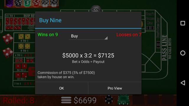 Craps Trainer Pro screenshot 3