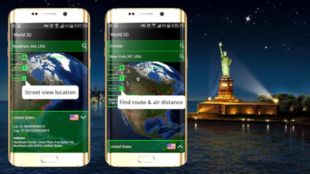 3D Earth Globe: World Map Panorama & 360 Satellite screenshot 3
