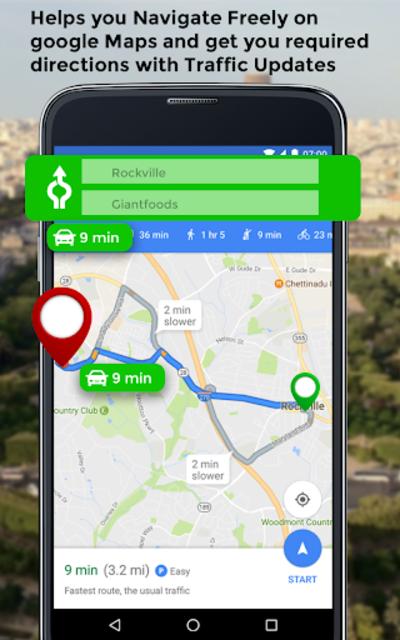 GPS HUD View Speedometer & Street Live Navigation screenshot 16