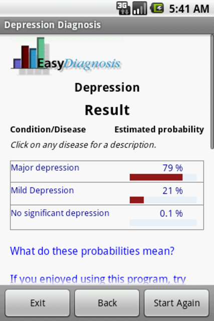 Depression Diagnosis Doctor screenshot 3