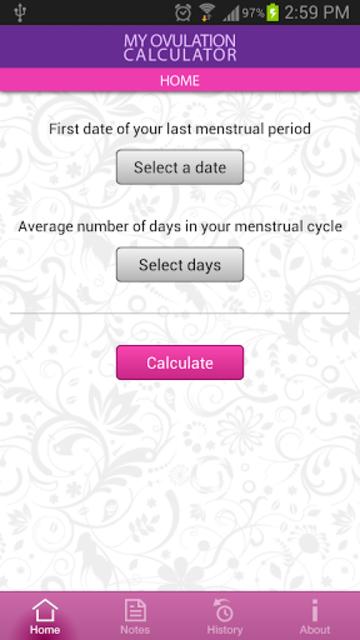 My Ovulation Calculator screenshot 1