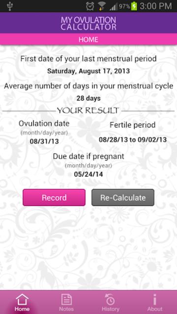 My Ovulation Calculator screenshot 2