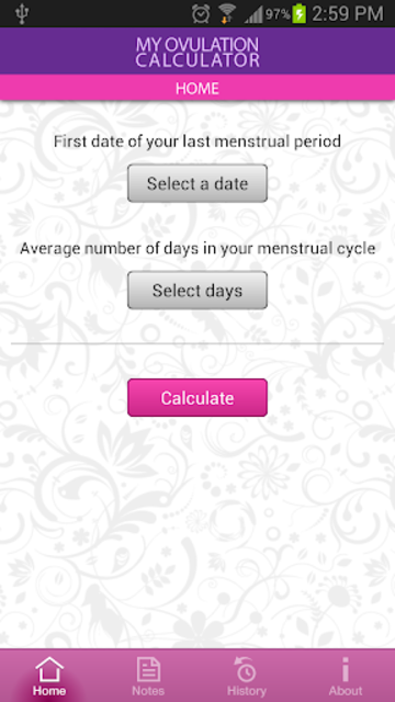 My Ovulation Calculator screenshot 1