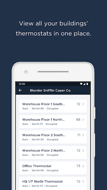 ecobee SmartBuildings screenshot 1