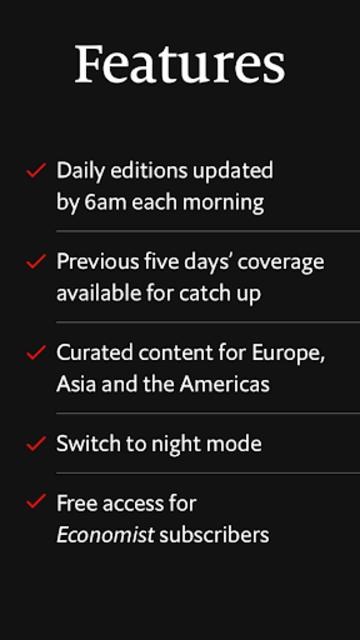 The Economist Espresso. Daily News screenshot 6