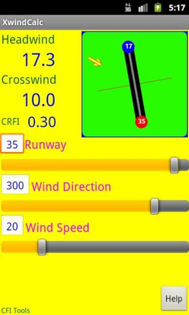CFI Tools Crosswind Calculator screenshot 2
