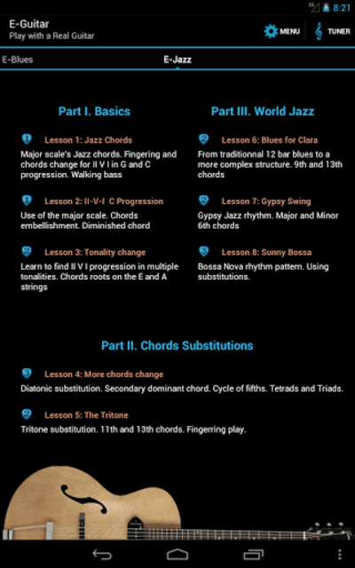 E-Guitar (Phone & Tablet) screenshot 15