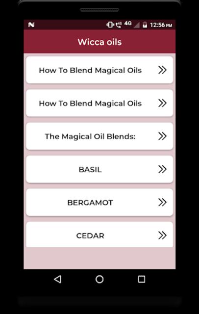 Wicca oils screenshot 2