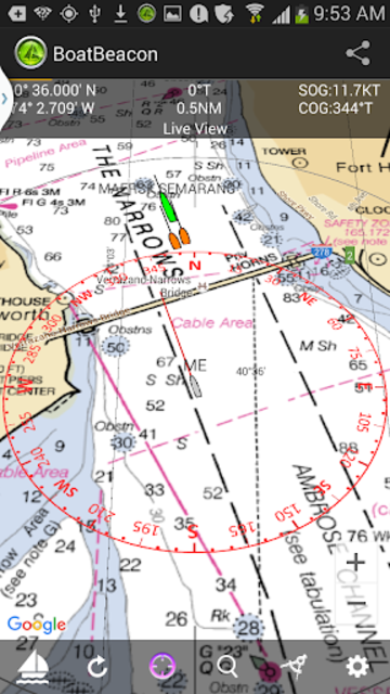Boat Beacon - AIS Navigation screenshot 1