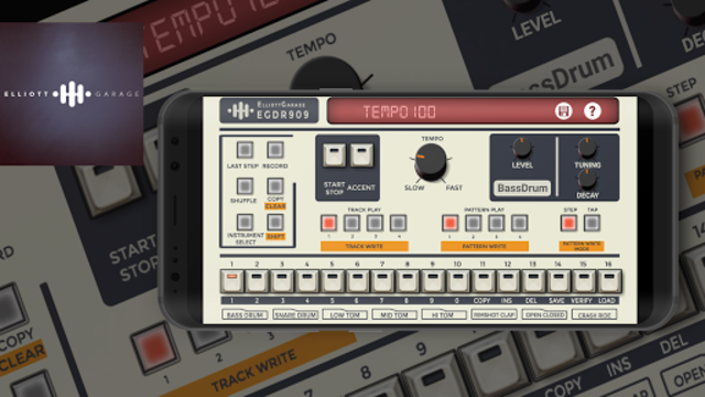 EGDR909 - Drum Machine screenshot 2