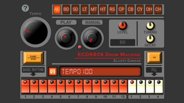 EGDR 808 - Drum Machine screenshot 2