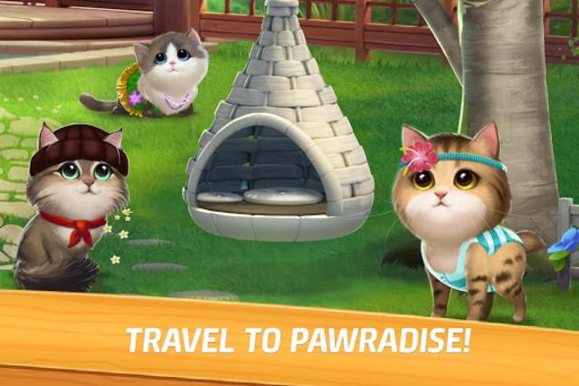 Meow Match: Cats Matching 3 Puzzle & Ball Blast screenshot 1