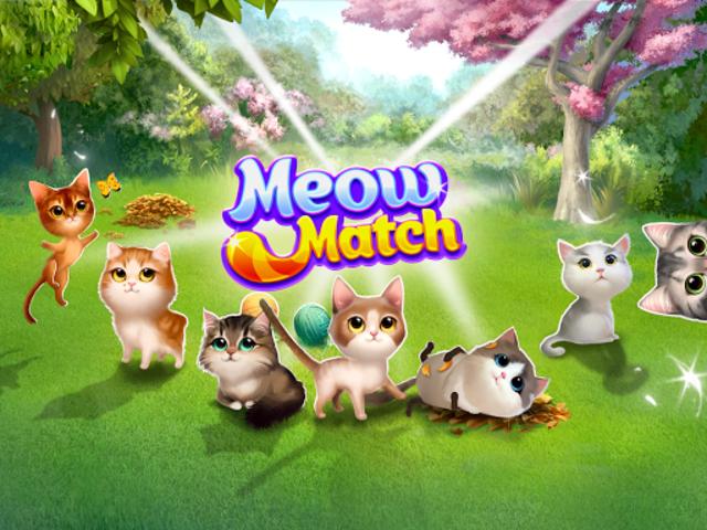 Meow Match: Cats Matching 3 Puzzle & Ball Blast screenshot 8