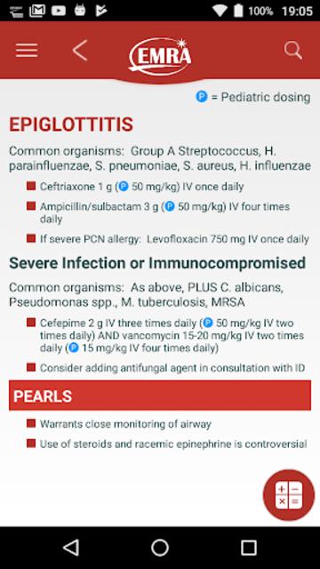 EMRA Antibiotic Guide screenshot 2