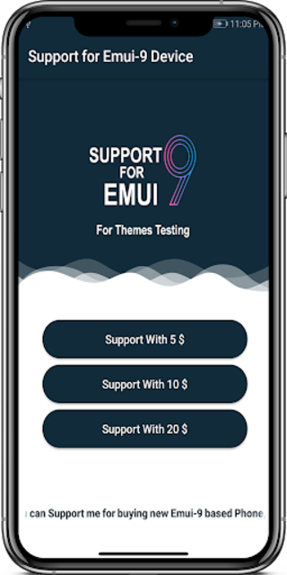 Support me For Emui9 Device screenshot 1