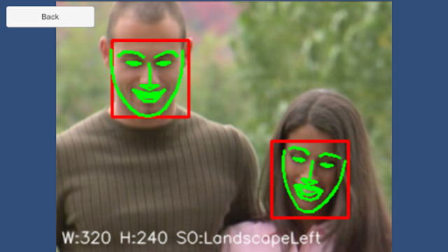 DlibFaceLandmarkDetectExample screenshot 4