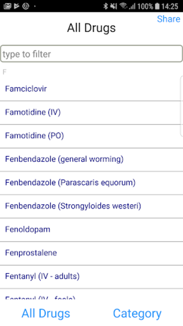 Equine Drugs screenshot 1